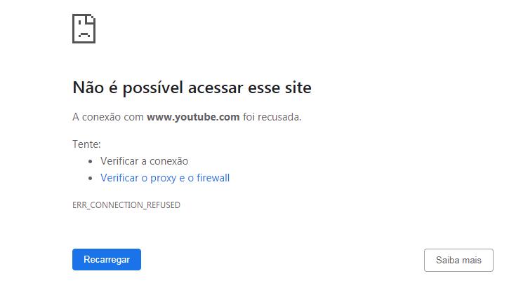 site bloqueado