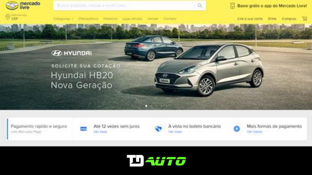 Hyundai é a primeira a integrar as suas concessionárias ao Mercado Livre
