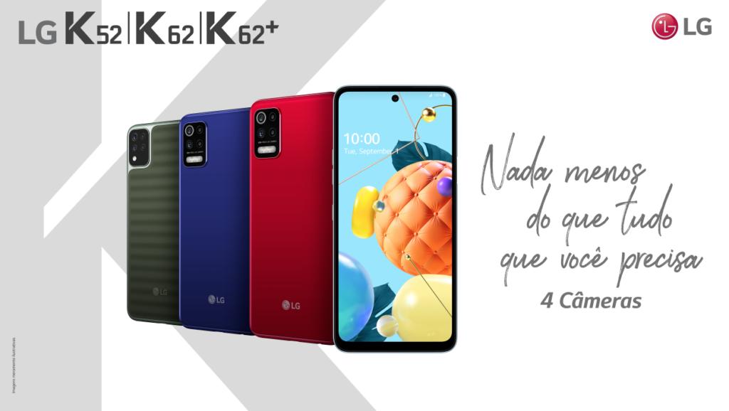 LG K62+ chega ao Brasil com tela de 6,6 polegadas