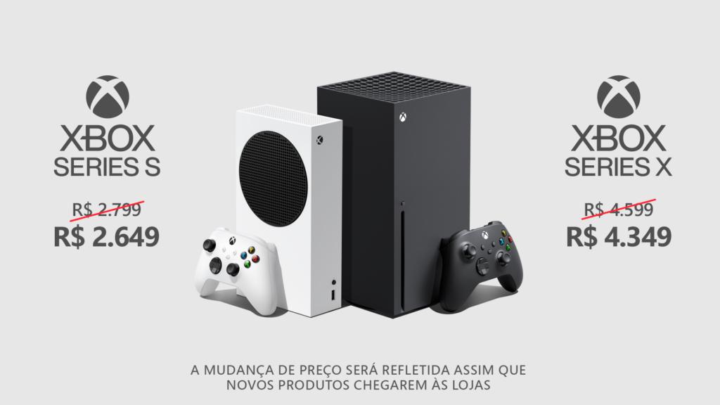 Xbox Series e acessórios sofrem redução de preços em até R$ 250
